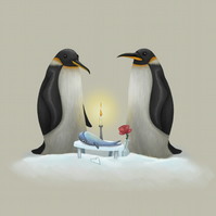 """Love Penguins"" limited edition signed print"