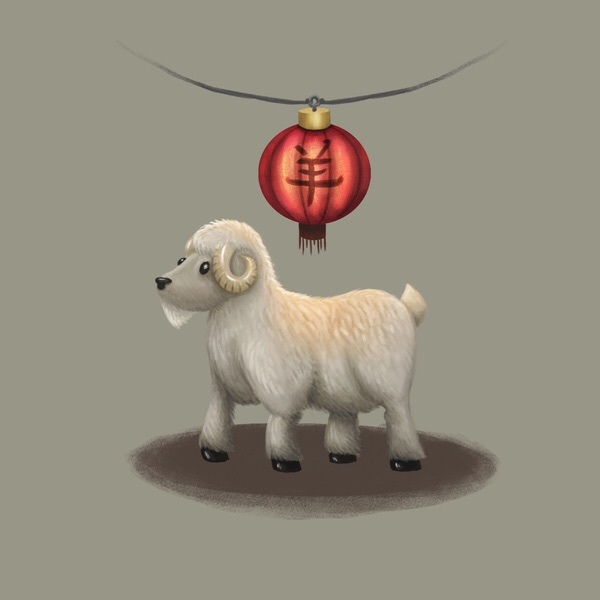 '2015 Chinese new year sheep' limited edition signed print