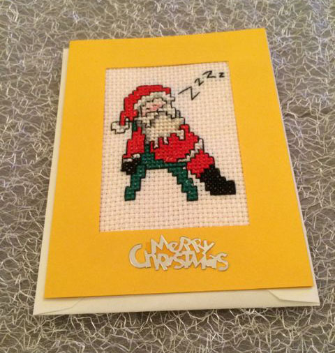 Christmas Cross Stich Greeting Card