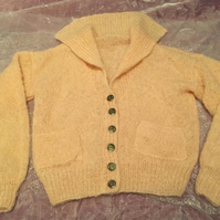 Cream Mohair Ladies Cardigan