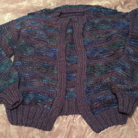 Purple & Blue Ladies Cardigan