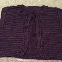 Little purple knitted cardigan