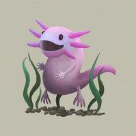 'Amazing Axolotl' limited edition signed print