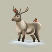 'Reindeer & Robins' limited edition signed print