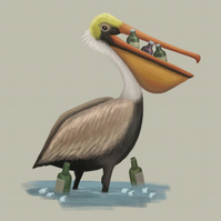 New Year Pelican limited edition signed print