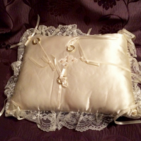 Small Satin Wedding ring pillow