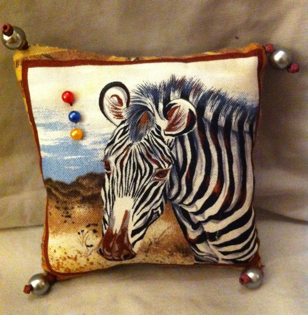 African Zebra patterned pin cushion