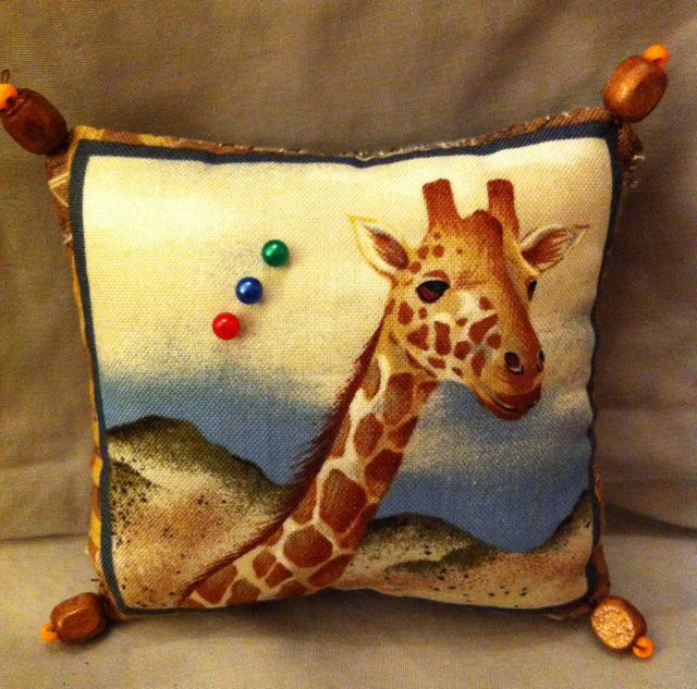 African animals patterned pin cushion