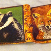 Badger and fox needle case