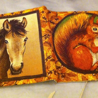 Squirrel & Horse needle case