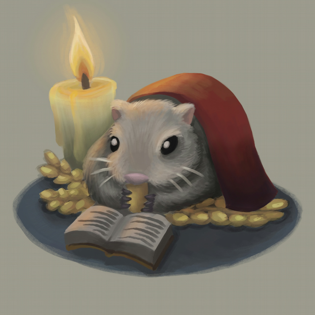 'Winter Hamster' limited edition signed print