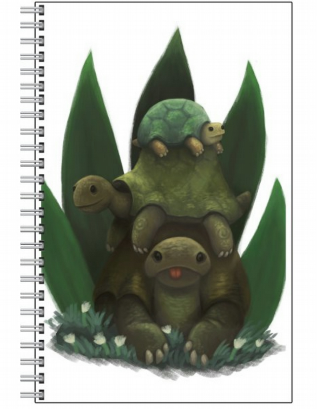 Stack of Turtles Notebook