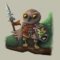 'Owl Knight' limited edition signed print