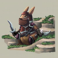 'Rabbit Ninja' Art Print