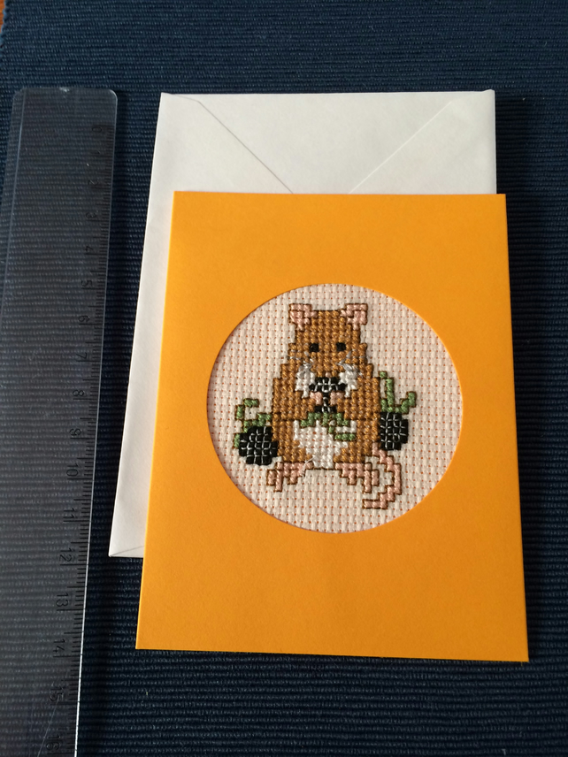 Little Mouse cross stich card
