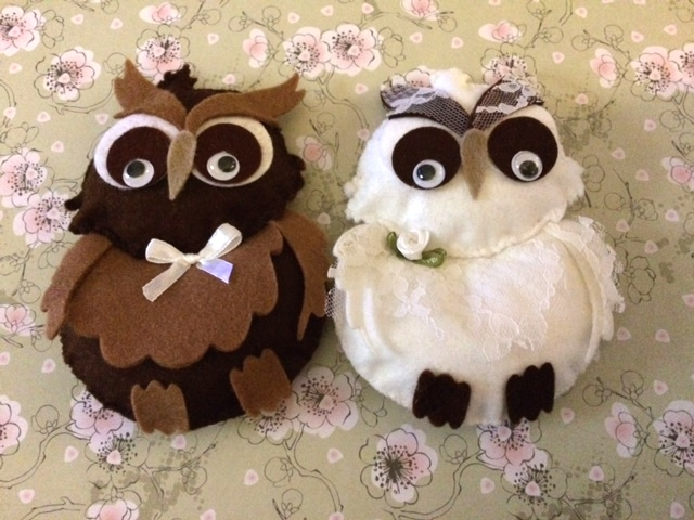 Wedding Felt Owls