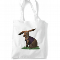 March Hare white Tote bag