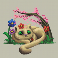 'Spring' Cat digital art print