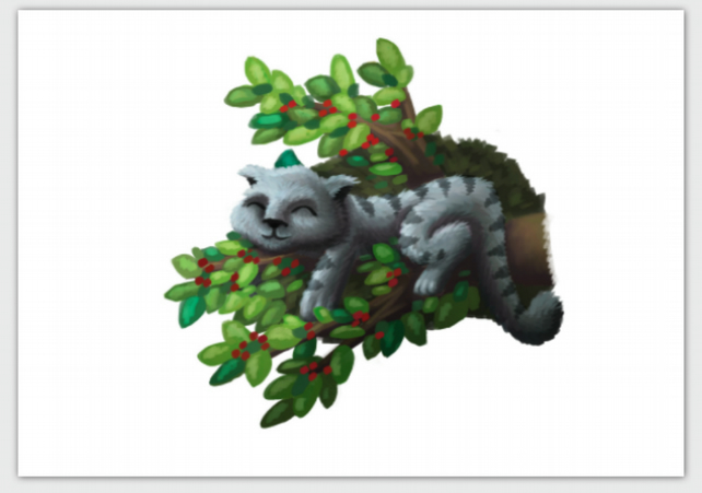 'Summer' cat in a tree blank greeting card
