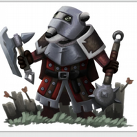 'Badger Soldier' blank greeting card