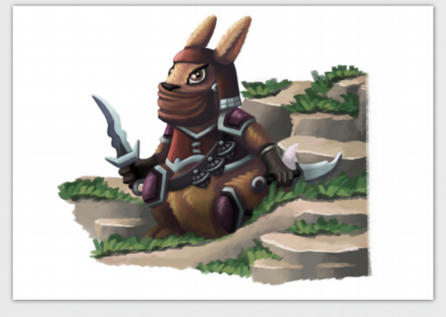 'Rabbit Assassin' blank greeting card