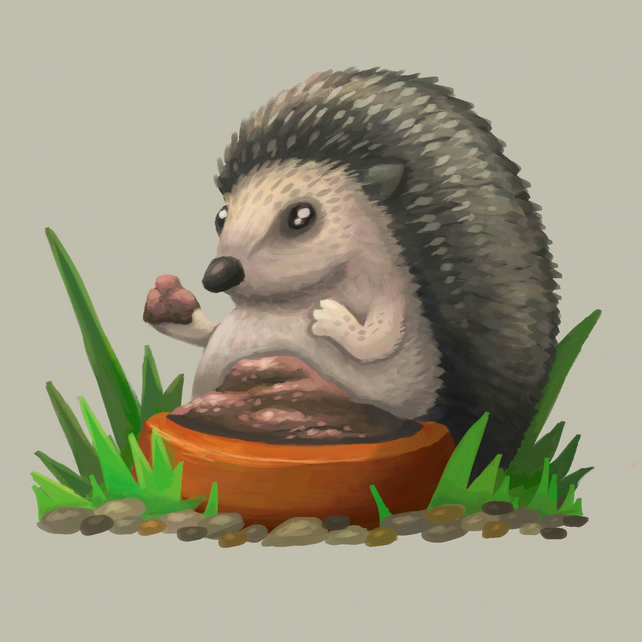 Hedgehog limited edition print
