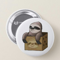 Sloth in a box badge