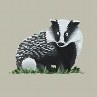 Badger limited edition signed print