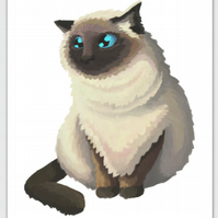 Himalayan Cat post card