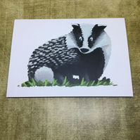 Badger blank greeting card