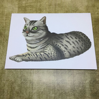 Egyptian Mau Cat blank greeting card