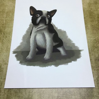 French Bulldog post card