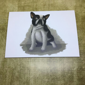 French Bulldog blank greeting card