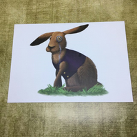 March Hare Blank Greeting Card