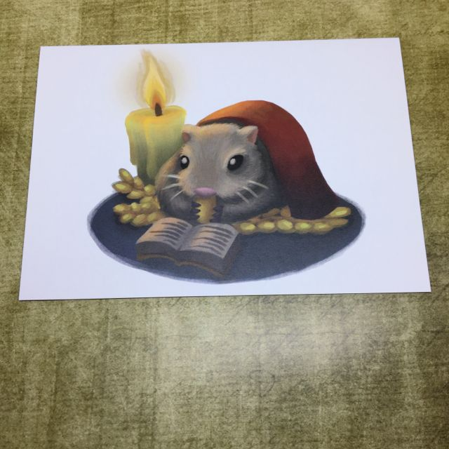 Winter Mouse blank greeting card