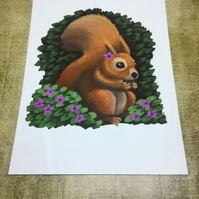 Red Squirrel post card