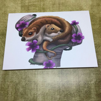 Weasels blank greeting card