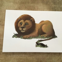 Lion blank greeting card