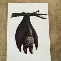 Bat blank greeting card