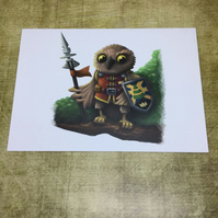 Set of 5 Fantasy Animals greeting cards
