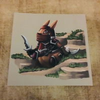 Rabbit Ninja square post card