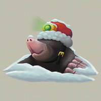 'Santa Mole' Limited Edition Art Print
