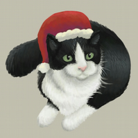Christmas Cat Limited Edition Art Print