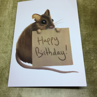 Happy Birthday Mouse Greeting Card