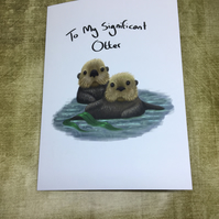 Signifcant Otter Blank Greeting Card