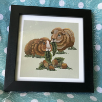 'Ginger Guinea Pigs' Limited Edition Art Print