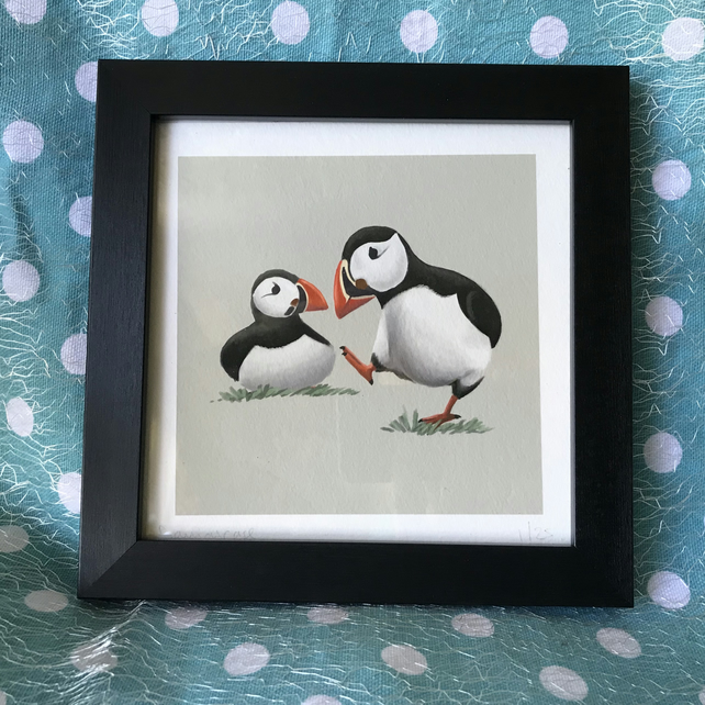 Puffins Limited Edition Art Print