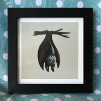 Halloween Bat  limited edition signed print