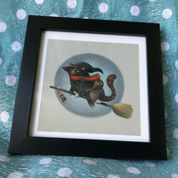 Cat Witch limited edition signed print