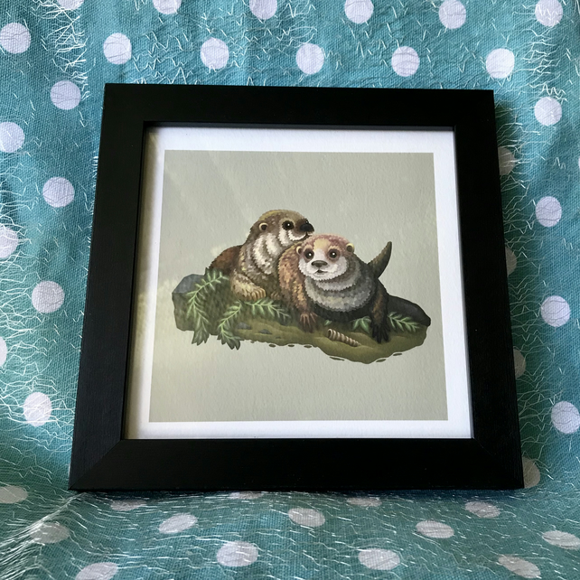 Otters Limited Edition Art Print